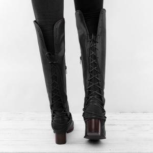 Elegchic Shoes | Womans Lace Up Boots